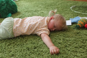 The tantrum to sleep phenomenon