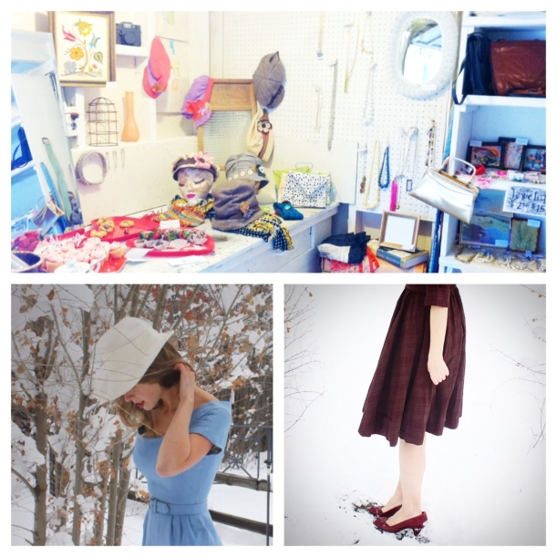 Clockwise:  some Nana Made things in the shop; one of the photos of me for the etsy site; Sarah in a skirt.