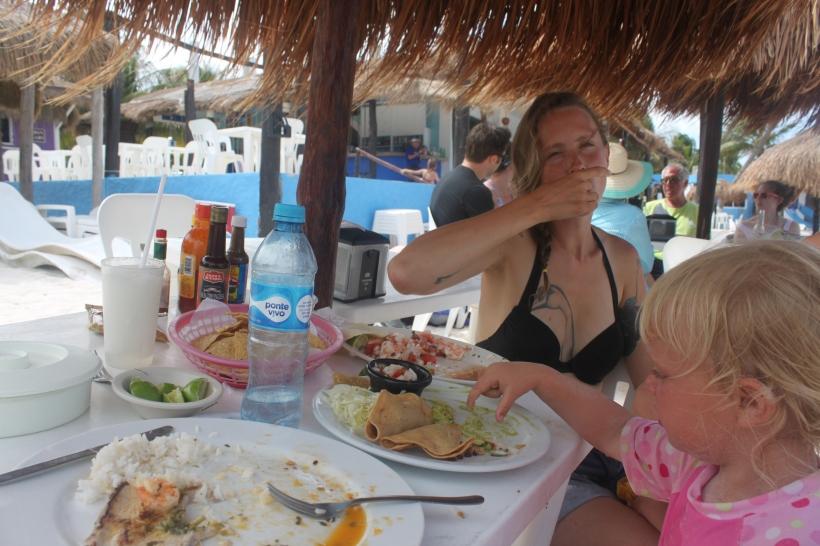 Eatin' tacos at Xpu'ha