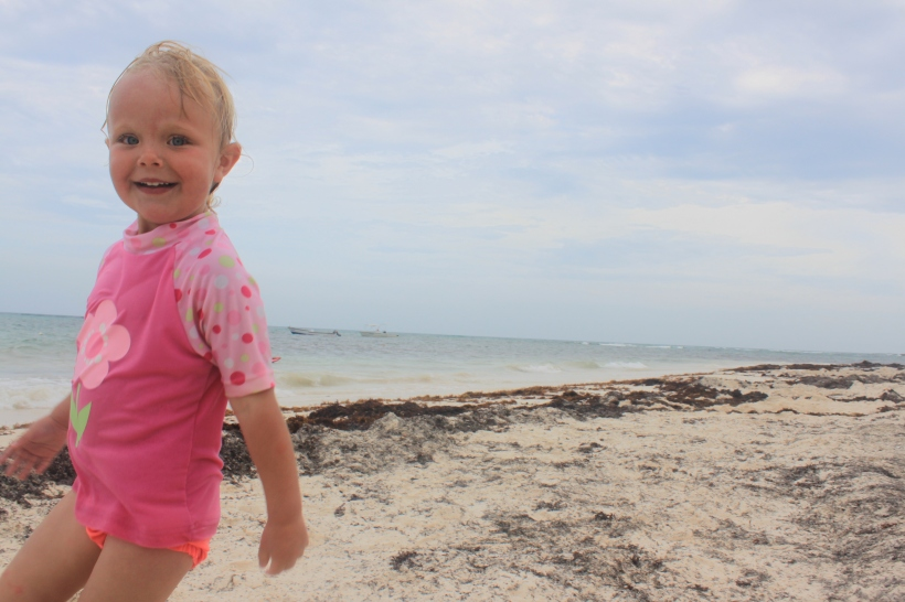 Lily en la playa