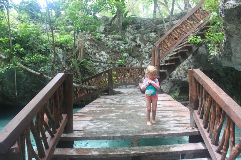 Lily en el Gran Cenote