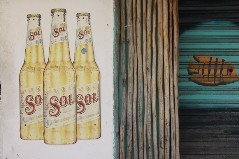 Love this painted Sol advertisement