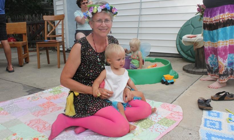 Grandma and the birthday girl :)