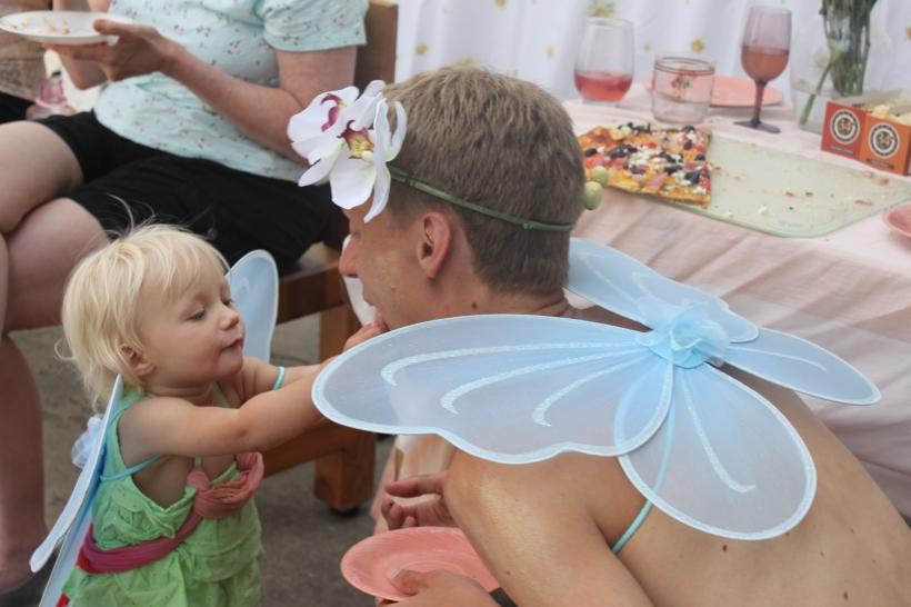 Ellison feeds her fairy daddy