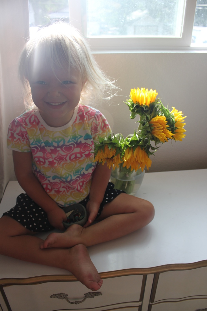 Lily with the sunflowers