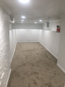 Large family space in basement.