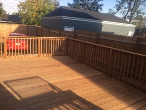 Back deck/back yard.