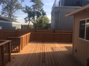 Huge back deck.  Perhaps too huge?